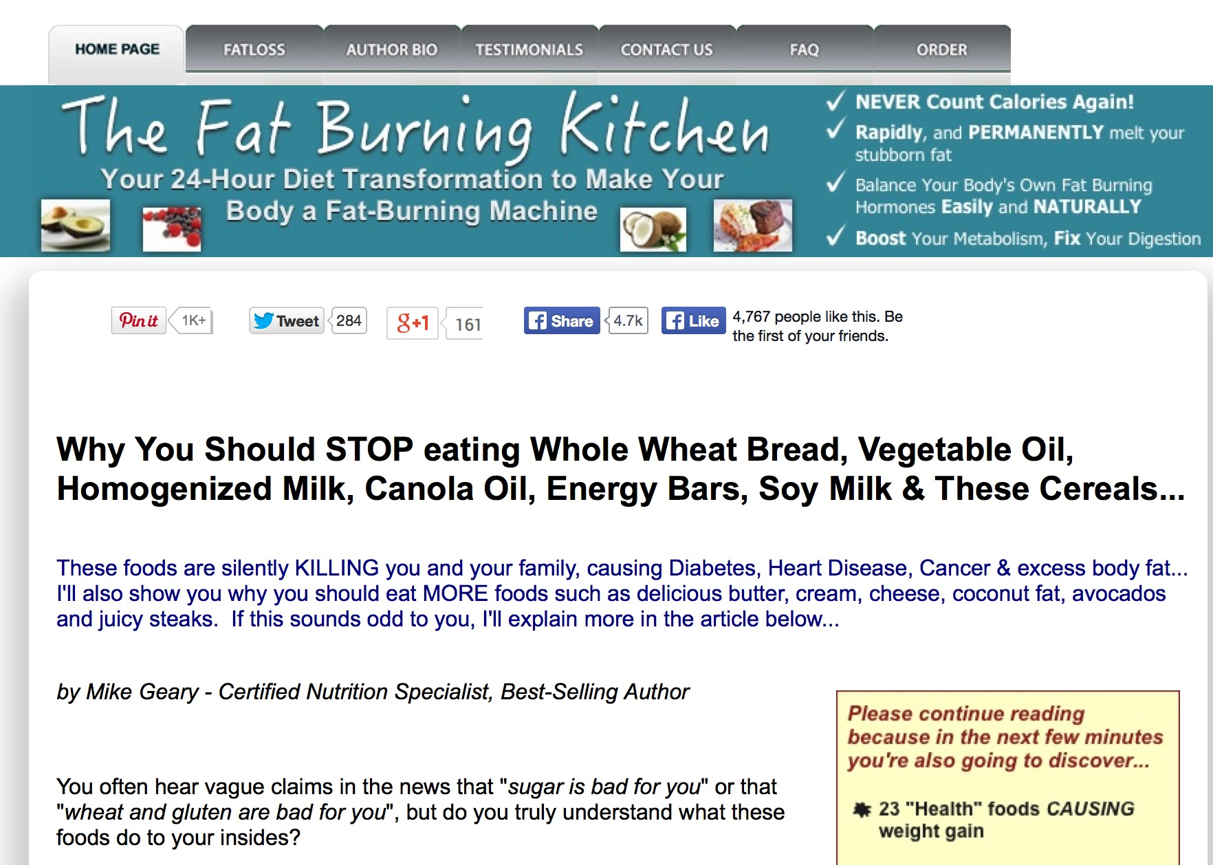 What is The Fat Burning Kitchen?