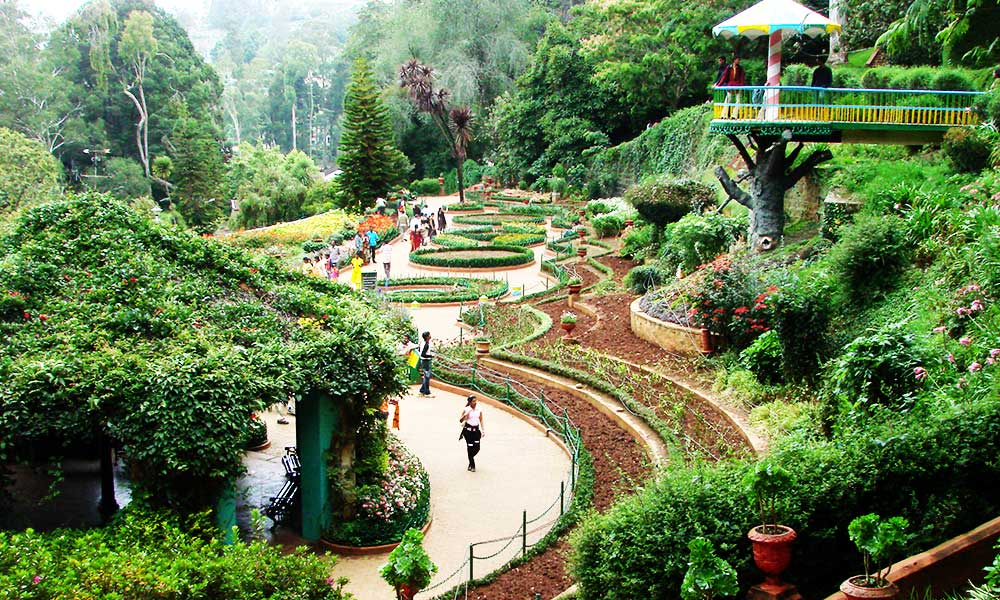 Hill stations in the Nilgiris-Ooty, Kodaikanal, Munnar