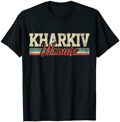 Kharkiv Ukraine Travel Souvenir Retro Vintage Gift T-Shirt