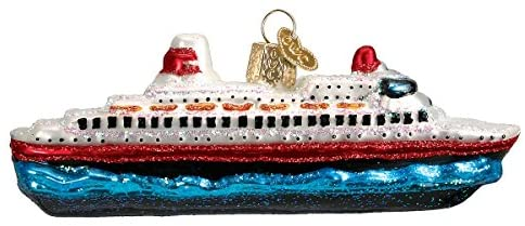 Old World Christmas Cruise Ship Glass Blown Ornaments for Christmas Tree