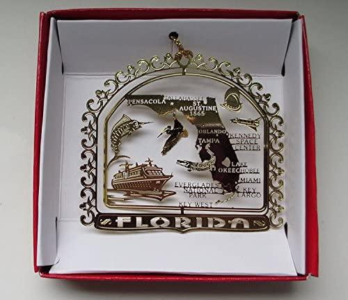 Florida State Landmarks Christmas Ornament