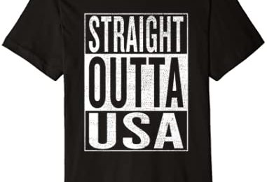 Straight Outta USA Great Travel Outfit & Gift Idea Premium T-Shirt