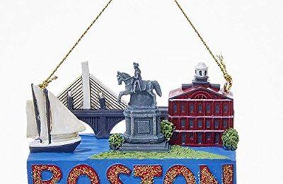 Kurt Adler 2 Inch Boston Travel Resin Ornament
