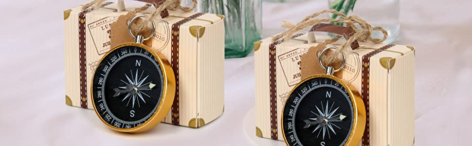 Compass Pendant Wedding Favors for Guests