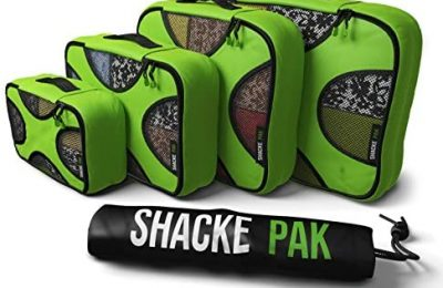 Shacke Pak – 5 Set Packing Cubes – Travel Organizers with Laundry Bag