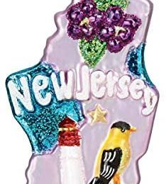 Old World Christmas State of New Jersey Ornament, Multi