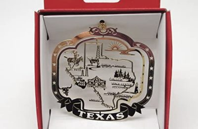 Texas State Christmas Ornament Souvenir Gift Dallas San Antonio Houston Austin +More by Nations Treasures