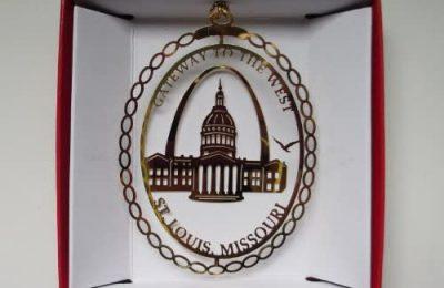 Nations Treasures St. Louis Christmas Ornament Gateway Arch Missouri City State Travel Souvenir Gift