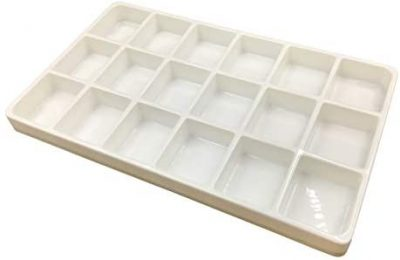 N'icePackaging 1 Qty – Heavy Duty Beach-Stone White Plastic 18 Compartment Tray – for Storage/Organization/Display/Sales/Stacking/Sorting – Various Sizes