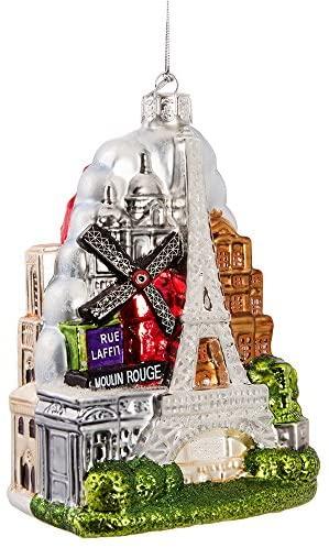 Kurt Adler 5-Inch Glass Paris City Ornament