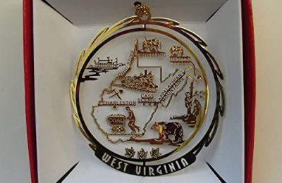 West Virginia State Brass Ornament Souvenir