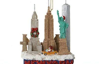 Kurt Adler 3.5″ Glittered US City Travel New York Christmas Ornament