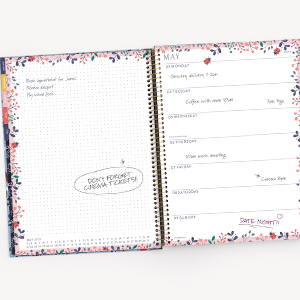 2021 Spacious Weekly Planner Letter Size Journaling Space Dot Grid Important Tasks Notes Wiro Bound