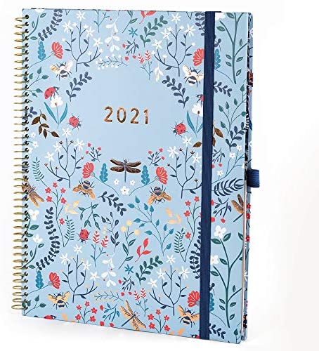 Boxclever Press 2021 Planner. NEW FOR 2021! Planner 2021 runs Jan - Dec'21. 2021 Planner Weekly and Monthly with Monthly Tabs, Note Pages, Goals & Dreams & Planner Stickers - 8.5 x 11 (Morning Sky)