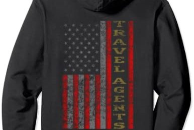 Cool Patriotic Travel Agents USA – US Flag Gift Idea Pullover Hoodie