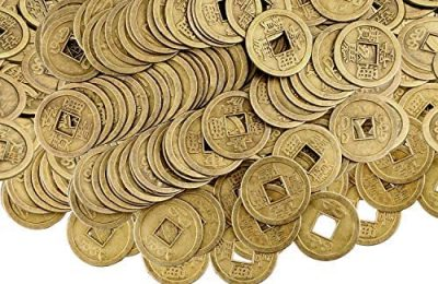 Chinese New Year Feng Shui Coins Good Luck Fortune Coin I-Ching Coins for Health and Wealth(300, 0.8 Inch)