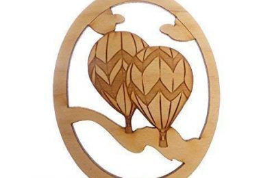Personalized Hot Air Balloon Ornament – Hot Air Balloon Gift – Travel Ornament