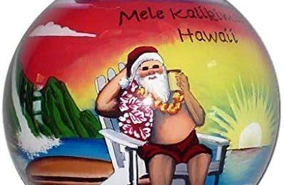 Collectible Hawaiian Santa Christmas Ornament MK/H