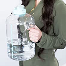 easy to carry ergonomic handle water bottle 1 gallon water bottle one gallon water bottle hydration