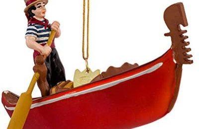 Noble Gems Kurt Adler 5-Inch Glass Gondola Ornament