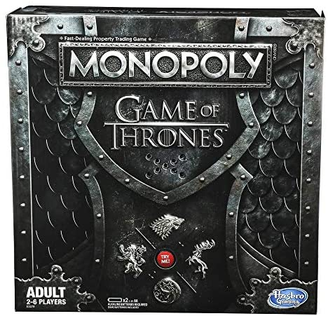 Monopoly Game of Thrones Board Game for Adults, Brown