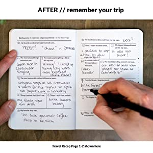 waypoint goods travel journal prompted memories travel recap fill in the blank easy convenient