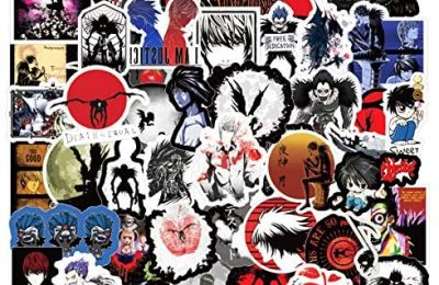 Death Note Stickers  50 Pcak  Anime Vinyl Waterproof Stickers for Laptop,Bumper,Water Bottles,Computer,Phone,Hard hat,Car Stickers and Decals, Teens Stickers for Kids