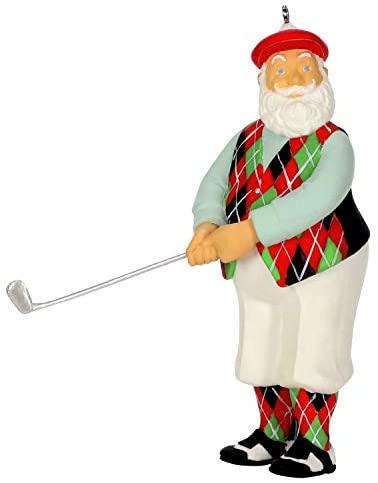 Hallmark Keepsake Christmas 2019 Year Dated Good-Looking Golfer Santa Ornament, Golf
