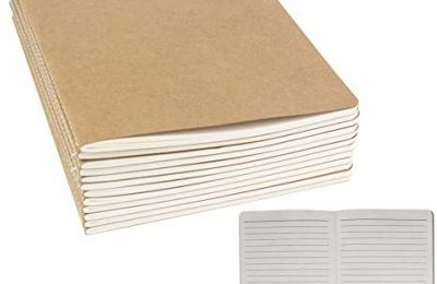 """24 Pack Journal Notebook Kraft Brown Cover Lined Notebooks for Travelers, Students, Office – Memo Diary Subject Notebooks Planner – A5 Size, 8.26""""x5.5"""", 60 Lined Pages/30 Sheets By ZMYBCPACK"""