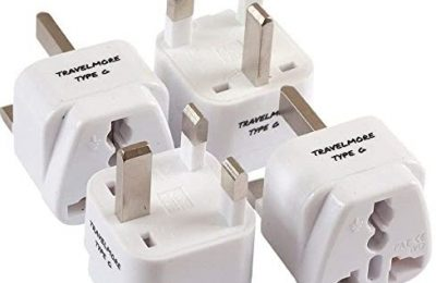 4 Pack UK Travel Adapter for Type G Plug – Works with Electrical Outlets in United Kingdom, Hong Kong, Ireland, Great Britain, Scotland, England, London, Dublin & More