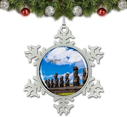 Umsufa Chile Rapa NUI National Park Easter Island Christmas Ornament Tree Decoration Crystal Metal Souvenir Gift