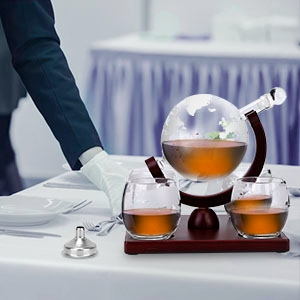 decanter set with glasses