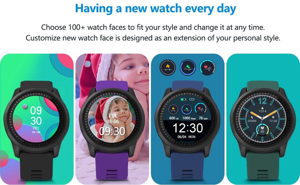 DIY screen fitness watch