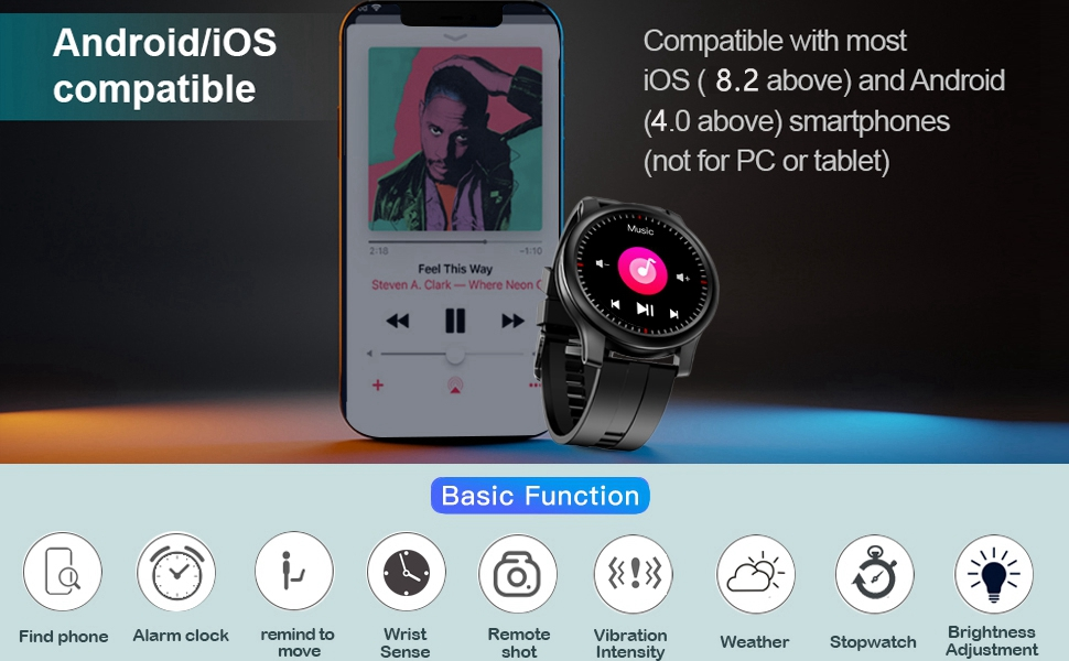 Compatible with iOS Android activity tracker