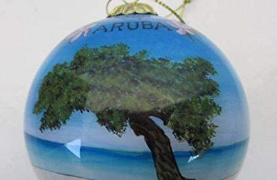 Hand Painted Glass Christmas Ornament – Divi Divi Tree Aruba