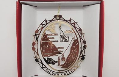 Nations Treasures Silver Valley Idaho Ornament Travel Souvenir Gift
