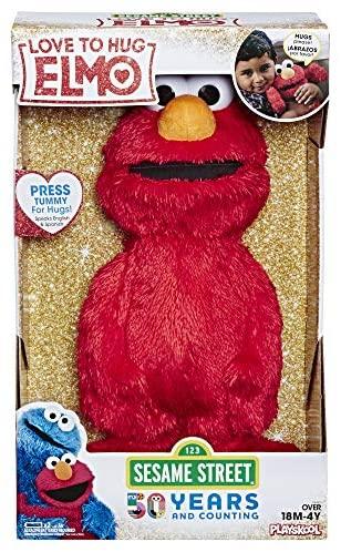 """Sesame Street Love to Hug Elmo Talking, Singing, Hugging 14"""" Plush Toy for Toddlers, Kids 18 Months & Up"""