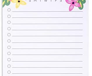 Steel Mill & Co To Do List Notepad with 75 Lined Sheets, Daily/Weekly Desktop Planner Pad for Shopping Lists, Reminders, Appointments, Mint Floral