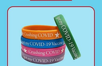 Covid Wristbands 10 Pack | Fits Adults Teens Multicolor | Silicone Vaccination Bracelets for COVID-19 Vaccine Support | Covid Bands I Covid Vaccinated ID for Front Line Workers