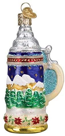 Old World Christmas German Stein Ornament, Multi