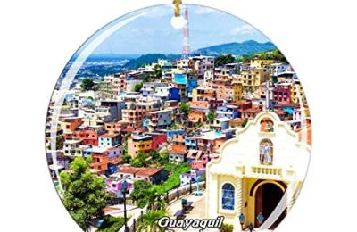 Weekino Ecuador Guayaquil Christmas Ornament City Travel Souvenir Collection Double Sided Porcelain 2.85 Inch Hanging Tree Decoration