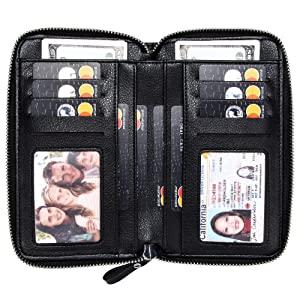 Large capacity wallet purse