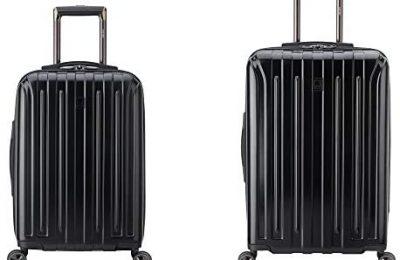 DELSEY Paris Titanium DLX Hardside Luggage with Spinner Wheels, Black, 2-Piece Set (21/25)