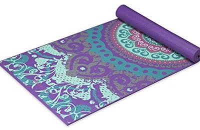 Gaiam Yoga Mat – Classic 4mm Print Thick Non Slip Exercise & Fitness Mat for All Types of Yoga, Pilates & Floor Workouts (68″ x 24″ x 4mm)