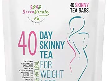 Detox Tea Diet Tea for Body Cleanse – 28 Day Weight Loss Tea, Natural Ingredients, Green People Skinny Tea for Slim, Belly Fat (40days)