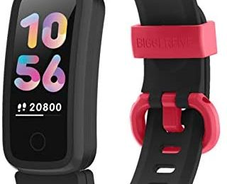 BIGGERFIVE Fitness Tracker Watch for Kids Girls Boys Teens, Activity Tracker, Pedometer, Heart Rate Sleep Monitor, IP68 Waterproof Calorie Step Counter Watch with Alarm Clock, Great Kids Gift