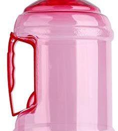 Alomejor 1Litre Water Bottle Jug Leakproof Sports Water Drinking Bottle Pink Gym Water Jug for Gym, Dieting, Bodybuilding, Hiking Container