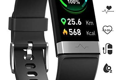 MorePro Fitness Activity Tracker Heart Rate Blood Pressure Monitor, IP68 Wateproof Smart Watch with Blood Oxygen HRV Health Sleep Tracking, Smartwatch Calorie Counter Pedometer for Women Men