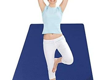 CAMBIVO Extra Wide Yoga Mat for Women and Men (72″x 32″x 1/4″), Eco-Friendly SGS Certified, Large TPE Exercise Fitness Mat for Yoga, Pilates, Workout