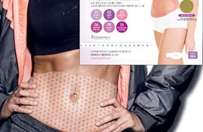 Body Applicator Wrap Slimming Firming Heating Abdomen Legs Arms, 8 Hours Sauna Suit Effect with Natural Ingredients, 0.02 Inch Thin Patch Type Adhering to Skin, spa gelpatch 42℃
